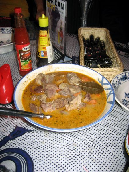 ヤギのスープ