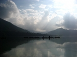 相模湖の朝