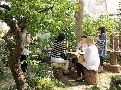 #soranokumo#大空のくも#おにわカフェ#切り株テーブル#カフェコーナー.jpg