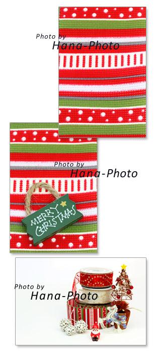 クリスマス リボン クリスマスカラー サンタクロース クリスマスツリー 木馬 実
