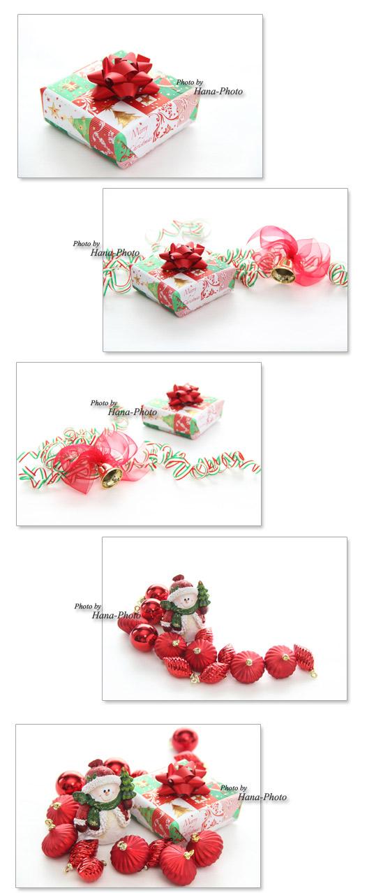 クリスマス クリスマスボール 写真 プレゼント 包装紙 ラッピングペーパー サンタクロース サンタ
