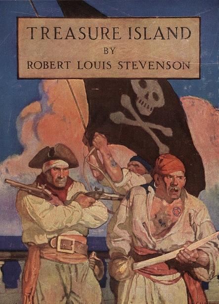 「Treasure Island」表紙。  「本書は、カリブ海周辺を根城に跋扈した大西洋の海賊が