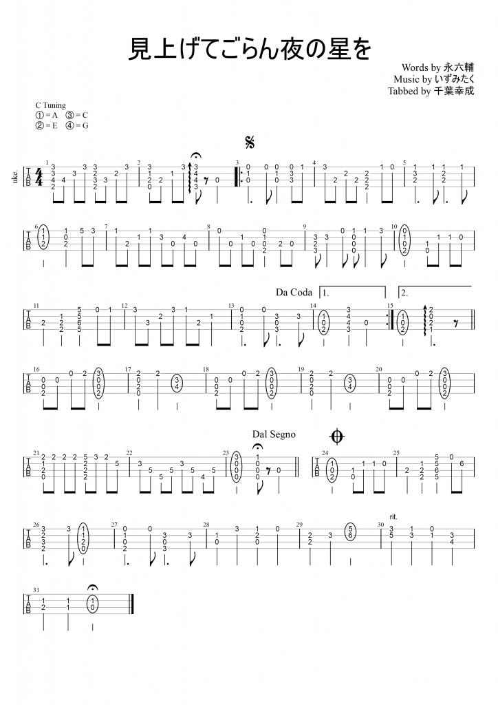 tab for ukulele