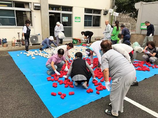 上飯田団地連合自治会で行った、運動会の用具のチェック