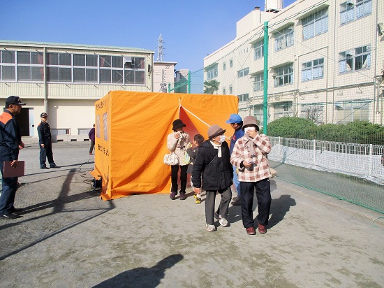 地域防災拠点の防災訓練