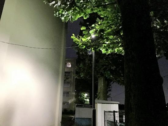 2018年9月19日(水)照明が街路樹で隠れている→枝の剪定をしてもらいました!