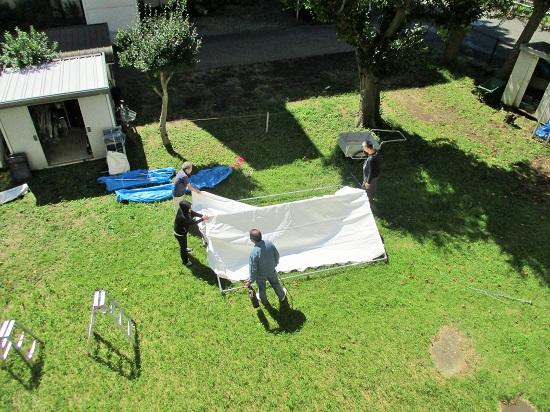 テントなどの備品の虫干し&倉庫の整理
