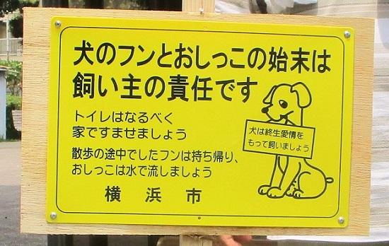 犬のフン対策〜立看板を設置