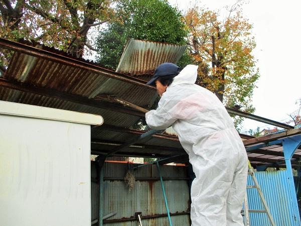 2019年12月1日(日) 16糖の駐輪場の屋根の撤去