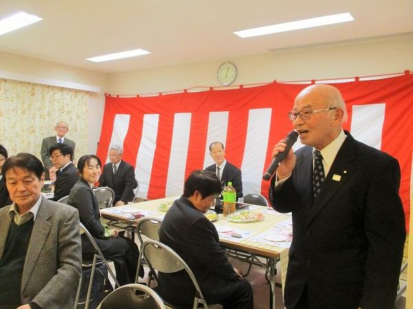 いちょう団地連合自治会の八木会長よりご挨拶頂きました。