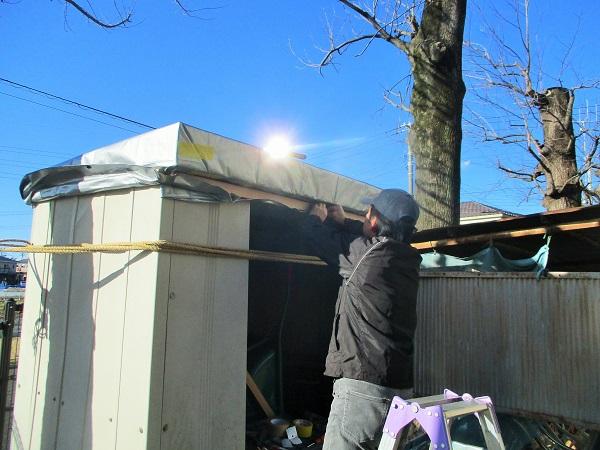 2020年1月30日(木)倉庫の修繕