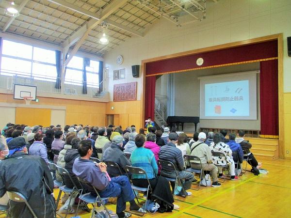 2020年2月16日(日)上飯田小学校 地域防災拠点 防災講習会