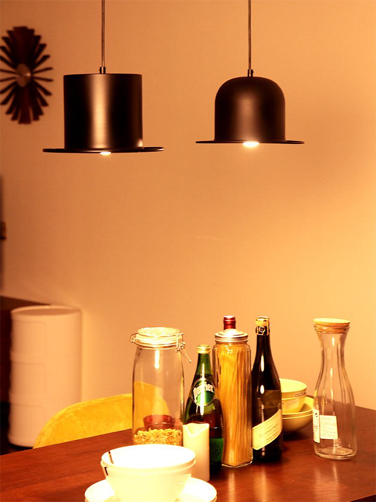 帽子の照明