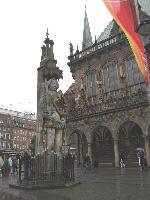 ブレーメン ローラント像と市庁舎