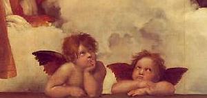 システィーナのマドンナ-天使部分抜粋