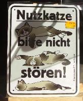 ネコの看板