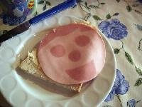 朝食のハム