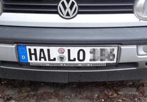 ハレの車のナンバープレート