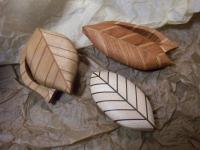 木工細工…葉っぱの箱