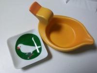文鳥皿(陶器)
