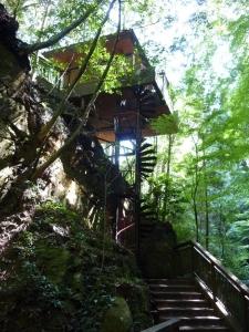 蜻蛉の滝階段