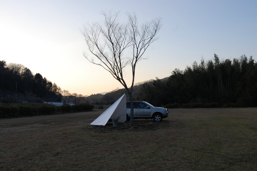 河川敷デイキャンプ