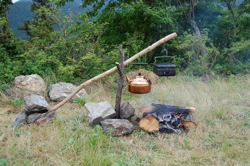 岳人の森 直火 焚き火