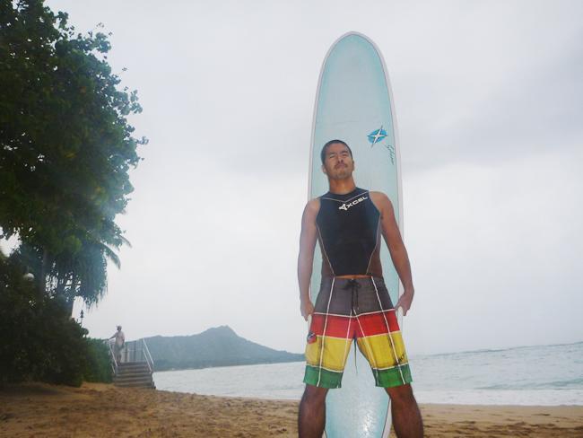 波乗り ハワイ