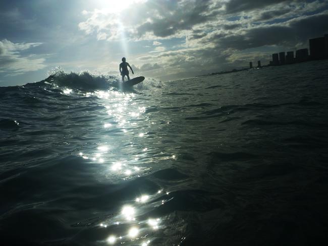 ハワイ Surfing