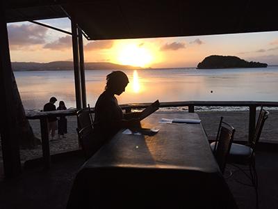 グアムのビーチカフェ