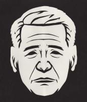 ブッシュの紙切り似顔絵