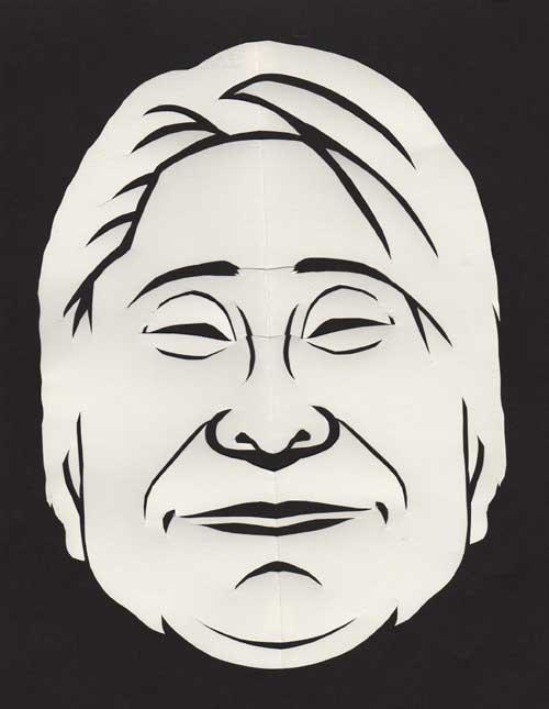 ホンジャマカ石塚の似顔切り絵