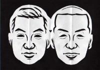 タカ&トシ似顔切り絵