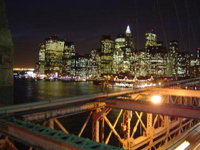 ブルックリンブリッジからの夜景。