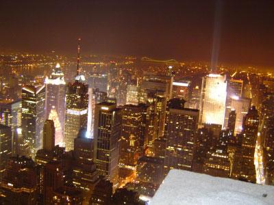 マンハッタンの夜景 その1。