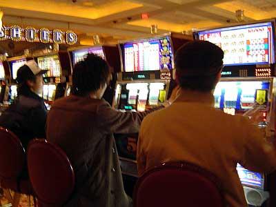 カジノでの一コマ。