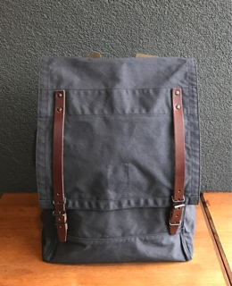 719d71702c0517 Nigel Cabourn. MAIN LINE. MOUNTAIN RUCKSACK(HALFTEX). COLOR:Dark Navy