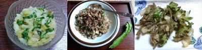 うりずん豆料理3品