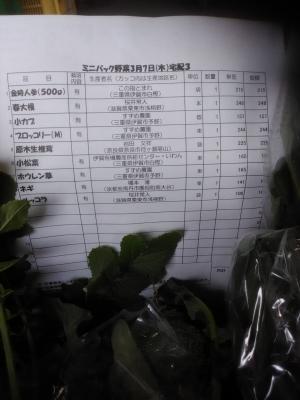 パック野菜お品書き190307