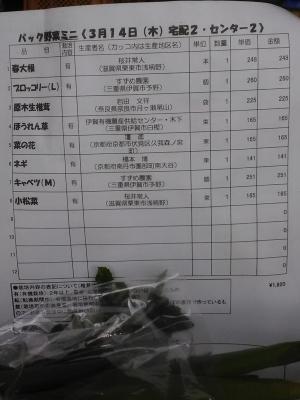 パック野菜ミニお品書き190314