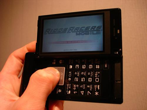リッジレーサーズモバイルのタイトル画面。
