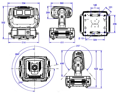 ムービングライト ROBE Digital Spot 3000 DT ムービングプロジェクター ClayPaky Alpha Spot HPE 575 High End Systems X.spot HO レンタル 格安 ダンス 演出 ステージ ライブ 学園祭 ヒップホップ 教室 バレエ