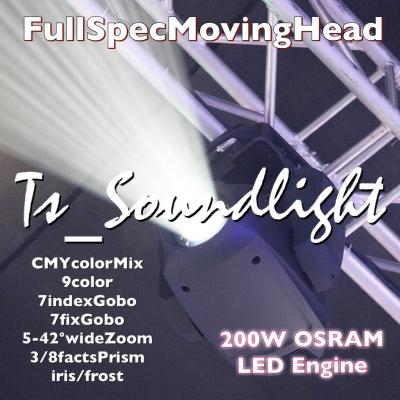 ムービングライト LED光源 CMYミックス ワイドズーム フル装備