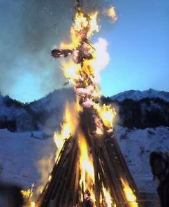 おんべの火。勢いがいいなあ。