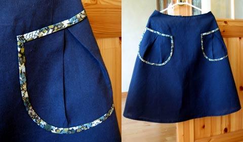 コーヒーココア.net  ポケットがかわいいスカート