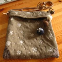 コーヒーココア.net 雪模様のバッグ