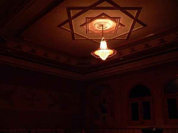 宿のランプ