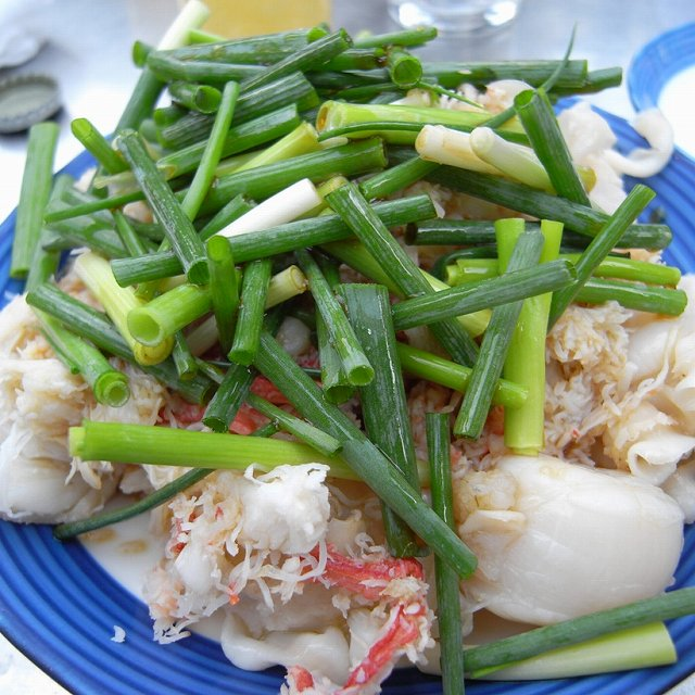 貝とカニの酢の物