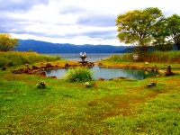 屈斜路湖畔・池の湯