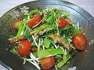 鰻と青菜の和え物